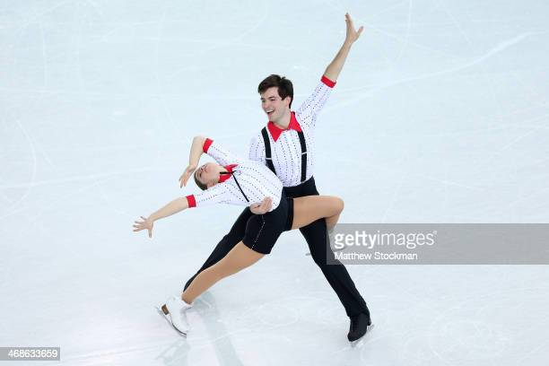 Miriam Ziegler and Severin Kiefer of Austria compete during the Figure Skating Pairs Short Program on day four of the Sochi 2014 Winter Olympics at...