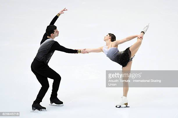 Miriam Ziegler and Severin Kiefer of Austria compete in the Pairs short program during the ISU Grand Prix of Figure Skating NHK Trophy on November 25...