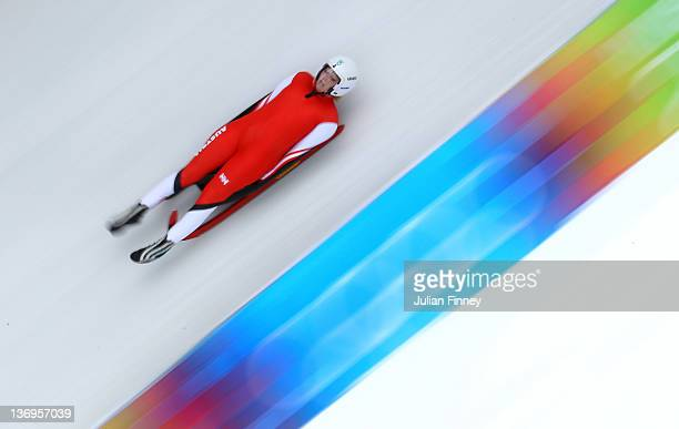 MiriamStefanie Kastlunger of Austria in action in the Luge at the Olympic Sliding Centre on January 13 2012 in Innsbruck Austria