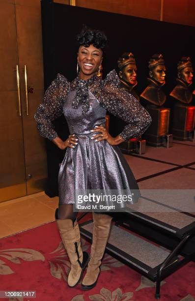 Miriam-Teak Lee attends The Olivier Awards Special Recognition Nominees' Celebration at The May Fair Hotel on March 13, 2020 in London, England.