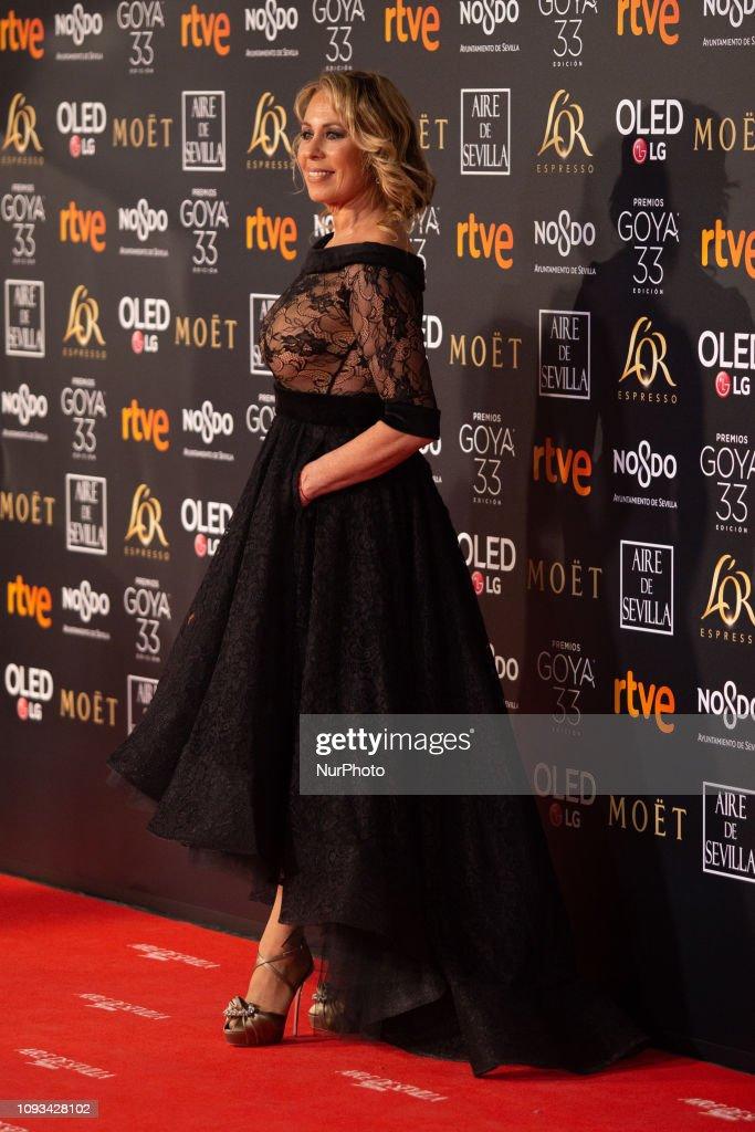 Mirian Diaz Aroca attends 33 edition of the Goya Awards In