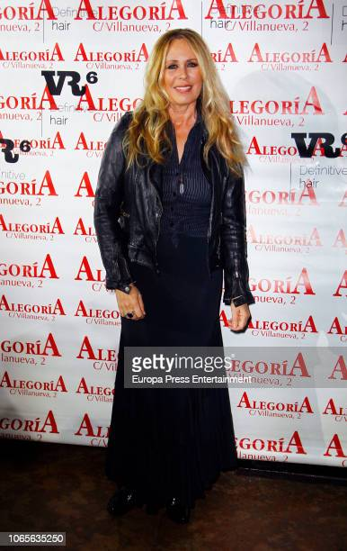 Mirian Diaz Aroca attends the presentation of 'Mi reencuentro' the new album by Potito on November 26 2018 in Madrid Spain