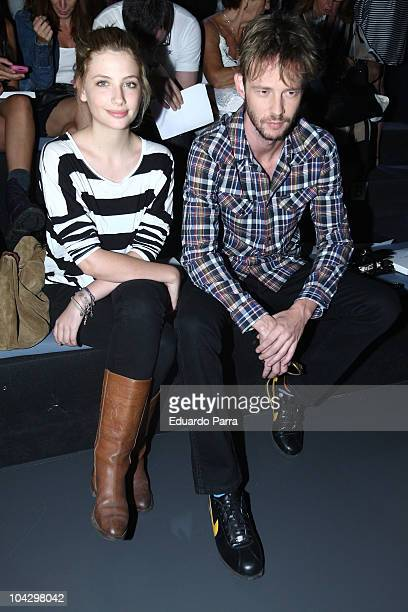 Mirian Giovanelli and Eloy Azorin attend Cibeles Madrid Fashion Week Spring/Summer 2011 at the Ifema on September 20 2010 in Madrid Spain