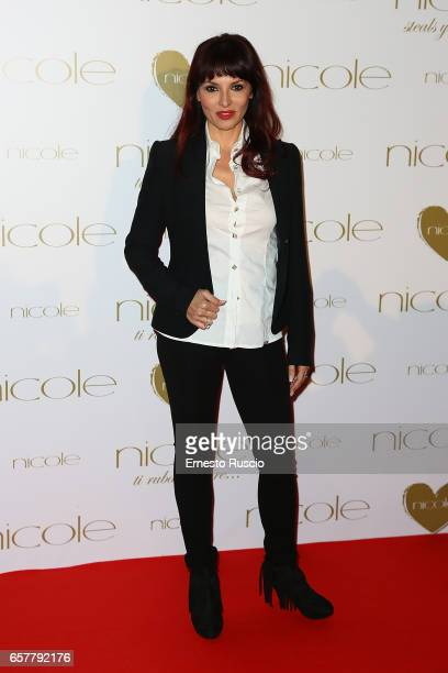Miriana Trevisan attends the red carpet of the Nicole fashion show at Palazzo Dei Congressi on March 25 2017 in Rome Italy