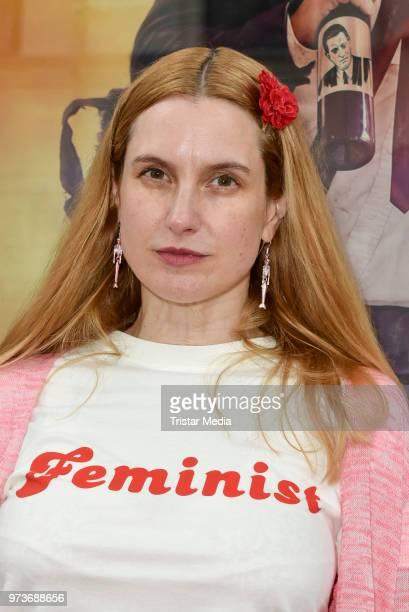 Mirijam Verena Jeremic attends the film preview of 'Der Sportpenner' on June 13, 2018 in Berlin, Germany.