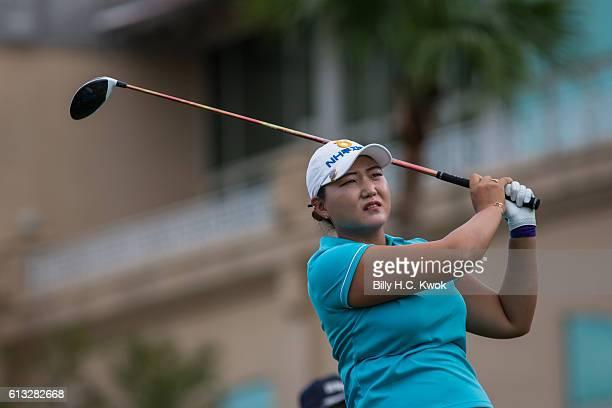 Mirim lee for Republic of Korea plays a shot in the Fubon Taiwan LPGA Championship on October 8 2016 in Taipei Taiwan