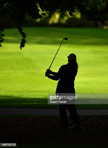 Mirim Lee of South Korea plays a shot during the first round of The Evian Championship at Evian Resort Golf Club on September 14 2017 in...