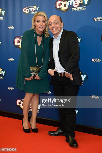 Mirja Boes and Bernhard Hoecker attend the 20th Annual German Comedy Awards at Coloneum on October 25 2016 in Cologne Germany