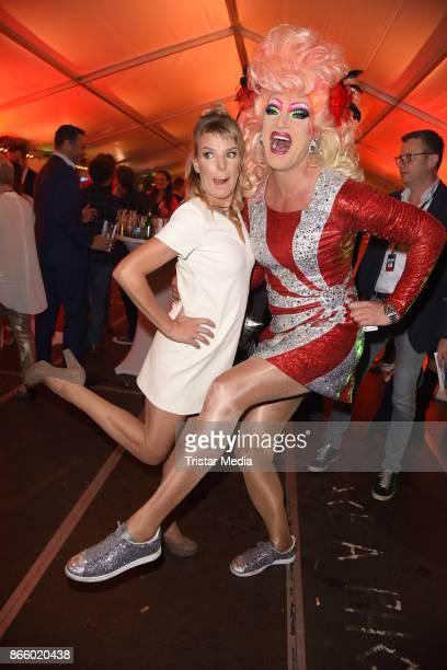 Mirja Boes and Olivia Jones attend the German Comedy Awards at Studio in Koeln Muehlheim on October 24 2017 in Cologne Germany