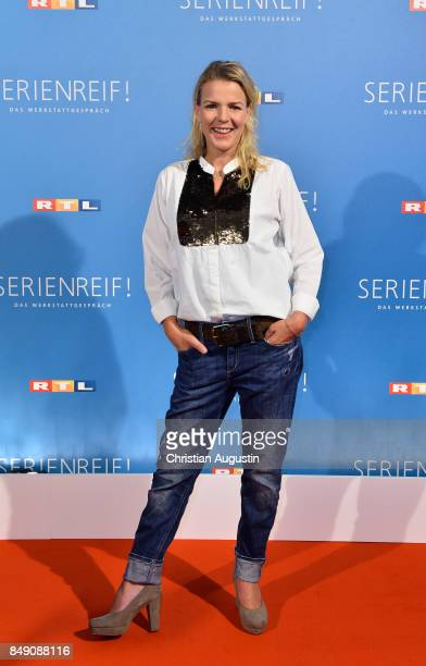 Mirja Boes attends RTL Serienreif Press Talk and Photcall at Trend Kueche und Club on September 18 2017 in Hamburg Germany