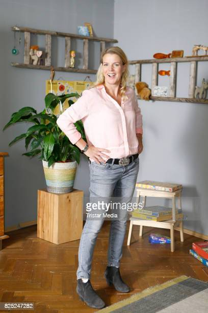 Mirja Boes during the set visit of the new RTL series 'Beste Schwestern' on August 1 2017 in Huerth Germany