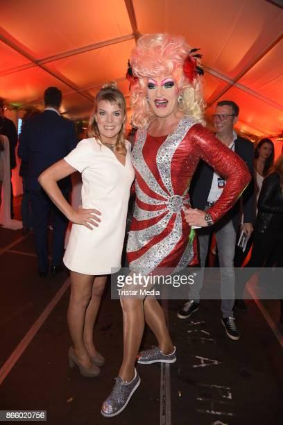 Mirja Boes Olivia Jones attends the German Comedy Awards at Studio in Koeln Muehlheim on October 24 2017 in Cologne Germany