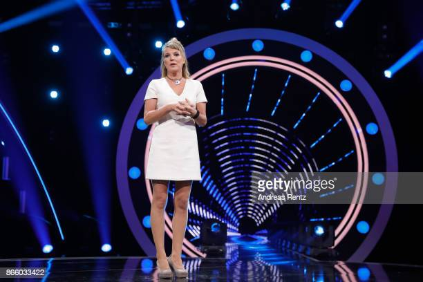 Mirja Boes performs on stage during the 21st Annual German Comedy Awards on October 24 2017 in Cologne Germany
