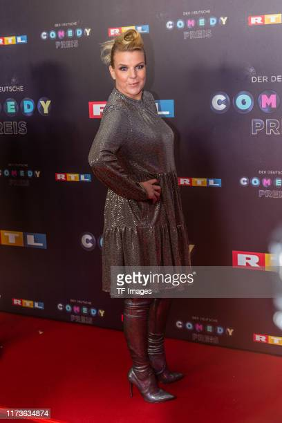 Mirja Boes pose for the 23rd annual German Comedy Awards at Studio in Koeln Muehlheim on October 2 2019 in Cologne Germany
