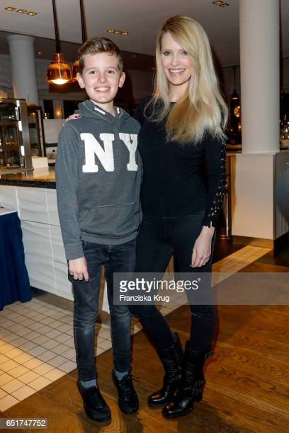 Mirja Du Mont and her son Fayn Neven du Montt attend the 'Baltic Lights' charity event on March 10 2017 in Heringsdorf Germany Every year German...
