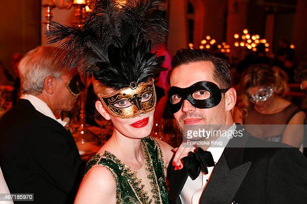 Mirja du Mont and Marco Stein attend the Bal Masque 2015 on March 21 2015 in Hamburg Germany