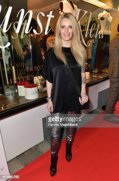 Mirja du Mont during the 'Kunst Kleid' fashion cocktail on April 25 2017 in Munich Germany