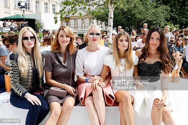 Mirja du Mont Eva Padberg Franziska Knuppe Cathy Hummels and Johanna Klum attend the presentation of the Rauch Happy Day Limited Edition designed by...