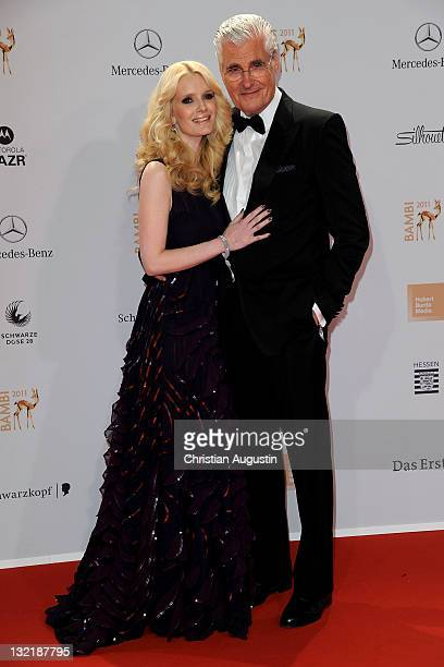 Mirja und Sky Dumont attend the Red Carpet for the Bambi Award 2011 ceremony at the RheinMainHallen on November 10 2011 in Wiesbaden Germany