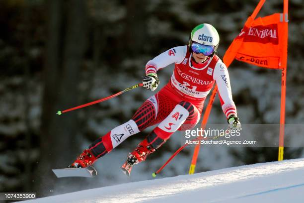 Mirjam Puchner of Austria in action during the Audi FIS Alpine Ski World Cup Women's Downhill on December 18 2018 in Val Gardena Italy