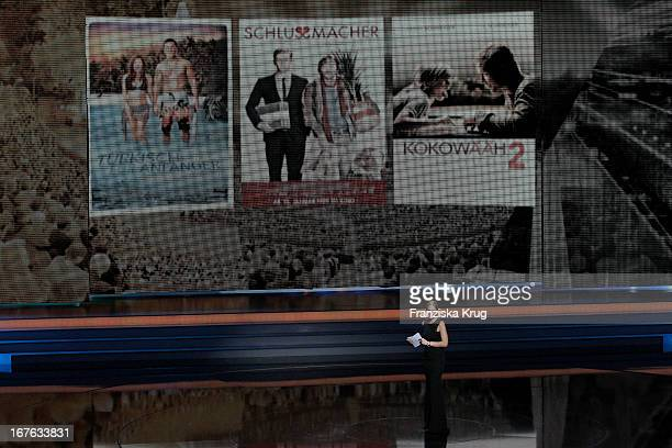 Mirjam Weichselbaum attends the Lola German Film Award 2013 at FriedrichstadtPalast on April 26 2013 in Berlin Germany