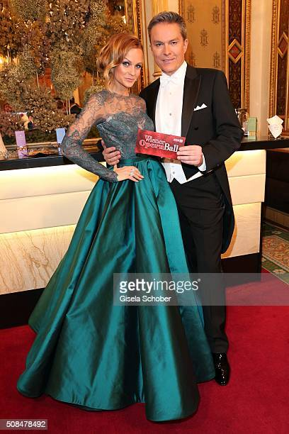 Mirjam Weichselbraun and Alfons Haider during the Opera Ball Vienna 2016 at Vienna State Opera on February 4 2016 in Vienna Austria