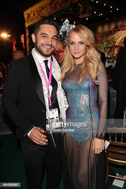 Mirjam Weichselbraun and her boyfriend Ben Mawson attend the Life Ball 2014 after show party at City Hall on May 31, 2014 in Vienna, Austria.