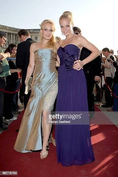 Mirjam Weichselbraun and sister Melanie Binder attend the '20th Romy Award' at the Hofburg on April 25 2009 in Vienna Austria