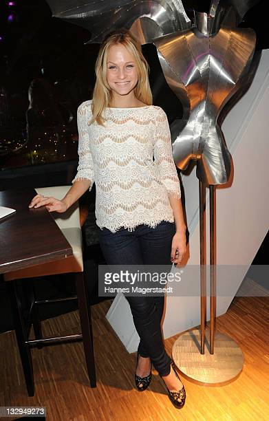 Mirjam Weichselbraun attends the Charity Night 'La Nuit Noire Doree' at the upside east on November 15 2011 in Munich Germany