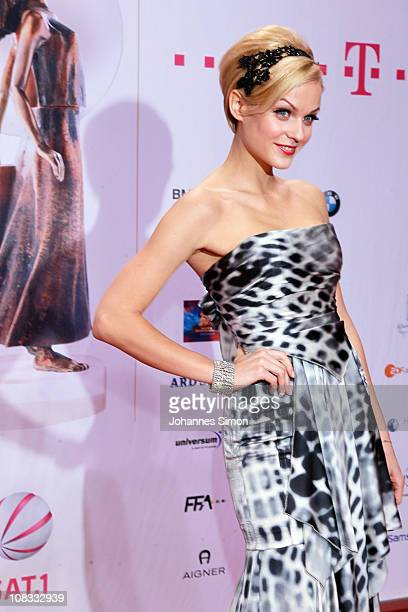 Mirjam Weichselbraun attends the Diva Award 2011 at Hotel Bayerischer Hof on January 25, 2011 in Munich, Germany.