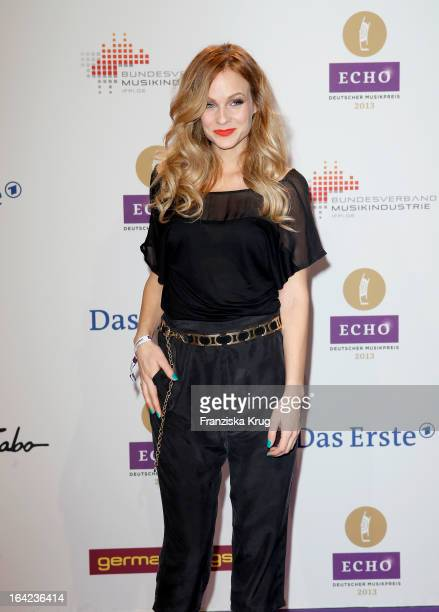 Mirjam Weichselbraun attends the Echo Award 2013 at Palais am Funkturm on March 21 2013 in Berlin Germany