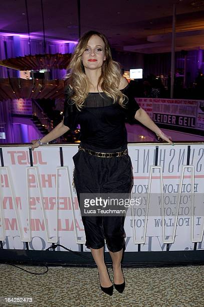 Mirjam Weichselbraun attends the Echo Awards 2013 Afterparty at Palais am Funkturm on March 21 2013 in Berlin Germany