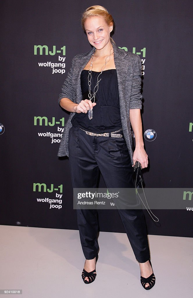Mirjam Weichselbraun attends the launch to the MJ-1 by Wolfgang Joop at Berliner Freiheit on October 27, 2009 in Berlin, Germany.