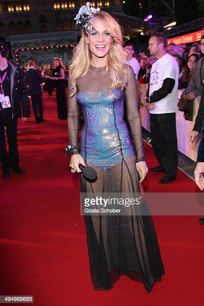 Mirjam Weichselbraun attends the Life Ball 2014 at City Hall on May 31 2014 in Vienna Austria