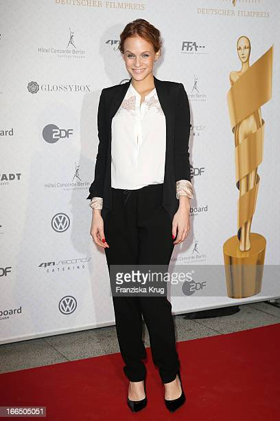 Mirjam Weichselbraun attends the Lola German Film Award 2013 Nominees Reception on April 13 2013 at 40seconds in Berlin Germany