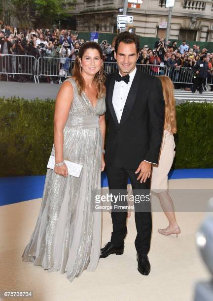 Mirka Federer and Roger Federer attend the 'Rei Kawakubo/Comme des Garcons: Art Of The In-Between' Costume Institute Gala at Metropolitan Museum of...
