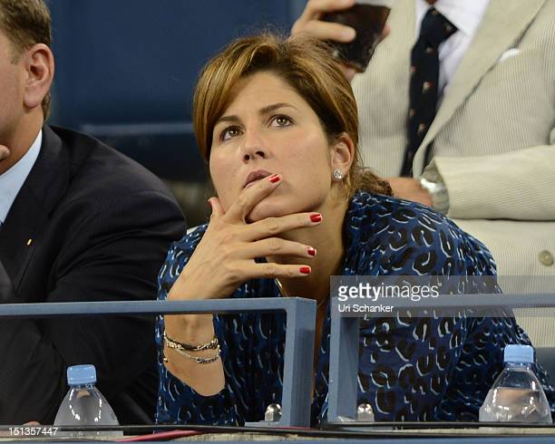 Mirka Federer attends the 2012 US Open at USTA Billie Jean King National Tennis Center on September 5 2012 in New York City