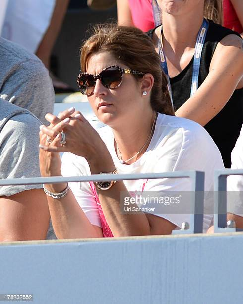 Mirka Federer attends the 2013 US Open at USTA Billie Jean King National Tennis Center on August 27 2013 in New York City