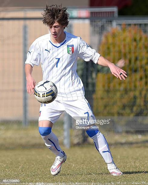 Mirko Antonucci of italy in action during the international friendly match between Italy U16 and Croatia U16 on February 19 2015 in Monfalcone Italy