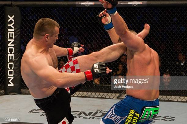 Mirko Crocop def Pat Barry 430 round 3 during UFC 115 at GM Place on June 12 2010 in Vancouver Canada
