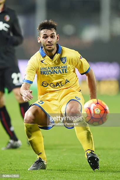 Mirko Gori of Frosinone in action during the Serie A match between Frosinone Calcio and Bologna FC at Stadio Matusa on February 3 2016 in Frosinone...