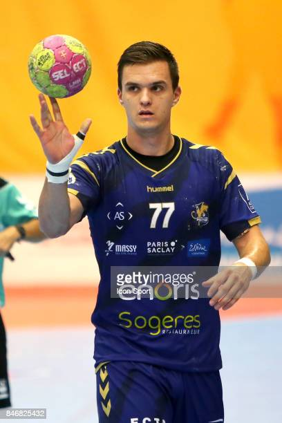 Mirko Herceg of Massy during Lidl Star Ligue match between Massy Essonne Handball and HBC Nantes on September 13 2017 in Massy France
