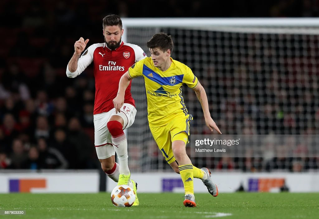 Arsenal FC v BATE Borisov - UEFA Europa League : News Photo