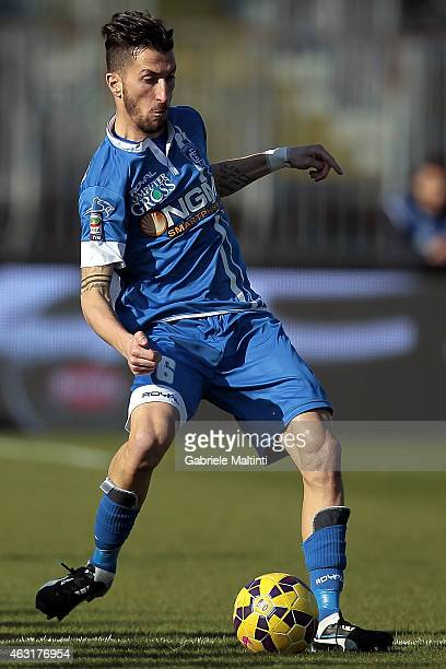 Mirko Valdifiori of Empoli FC in action during the Serie A match between Empoli FC and AC Cesena at Stadio Carlo Castellani on February 8 2015 in...