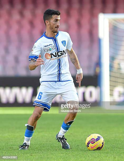Mirko Valdifiori of Empoli in action during the Serie A match between SSC Napoli and Empoli FC at Stadio San Paolo on December 7 2014 in Naples Italy