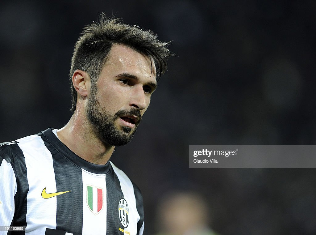 Mirko Vucinic of Juventus FC during the Serie A match between Juventus FC and ACF Fiorentina at Juventus Arena on February 9, 2013 in Turin, Italy.