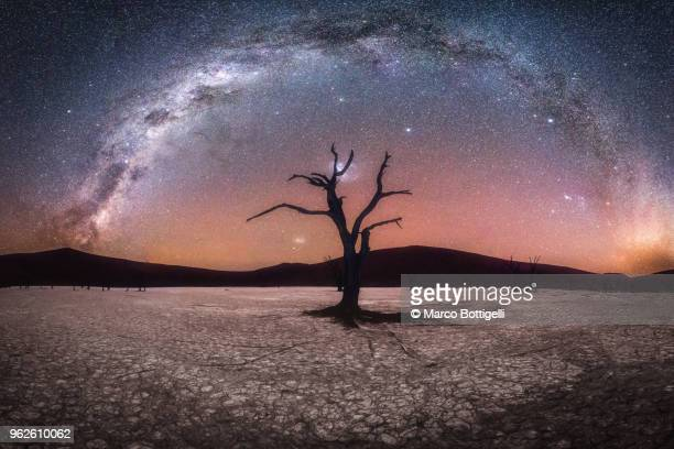 Mirlky Way arch over Deadvlei clay pan, Namibia