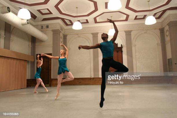 Miro Magloire's New Chamber Ballet performing at the City Center on Friday night September 22 2006This imageFrom right Damien Johnson Christin Hanna...