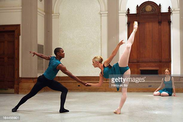 Miro Magloire's New Chamber Ballet performing at the City Center on Friday night September 22 2006This imageFrom left Damien Johnson Christin Hanna...