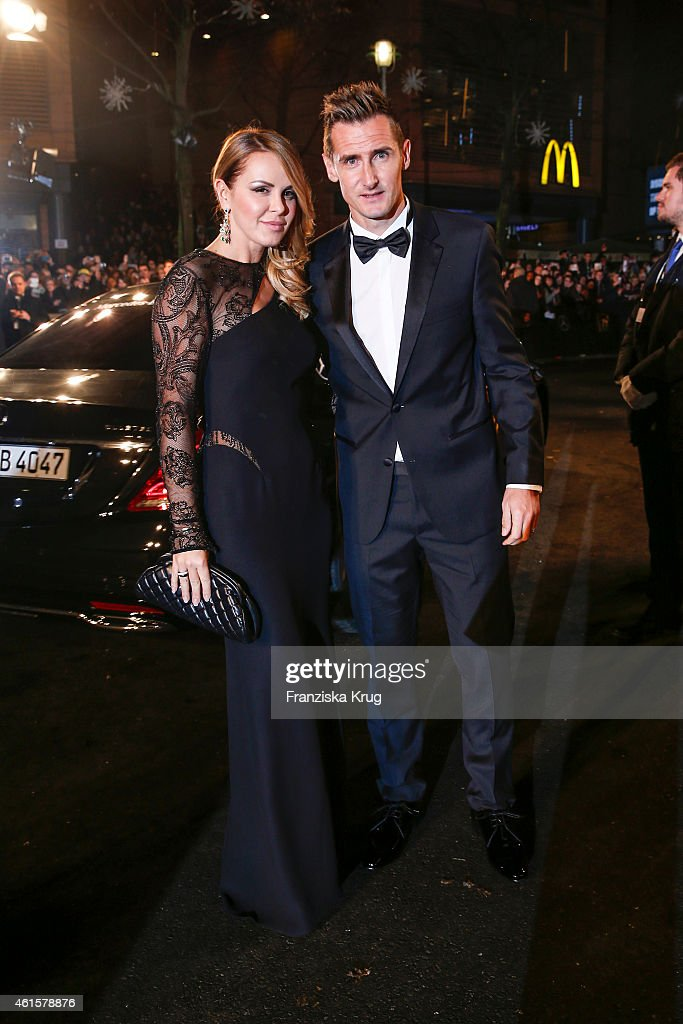 Miroslav Klose and his wife attend Sylwia Klose arrives at the Bambi Awards 2014 on November 13, 2014 in Berlin, Germany.